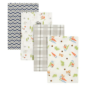 Woodsy Gnomes Flannel Blankets, Set of Four