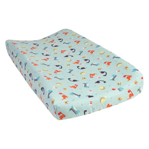 Dinosaurs Deluxe Flannel Changing Pad Cover