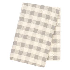 Gray and Cream Buffalo Check Jumbo Deluxe Flannel Swaddle Blanket