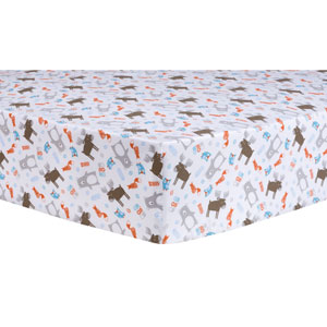 Scandi Forest Fitted Crib Sheet