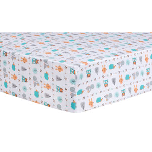 Forest Babies Fitted Crib Sheet