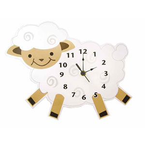 Baby Barnyard Lamb Wall Clock