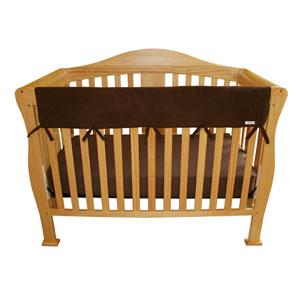 Brown Fleece Long Cribwrap Wide Rail Cover
