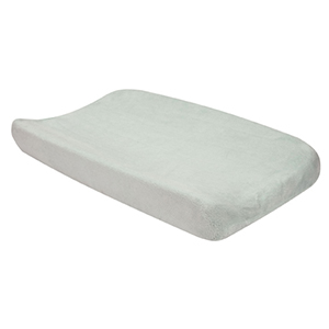 Coral Fleece Gray Changing Pad Cover