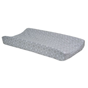 Gray and White Circles Changing Pad Cover