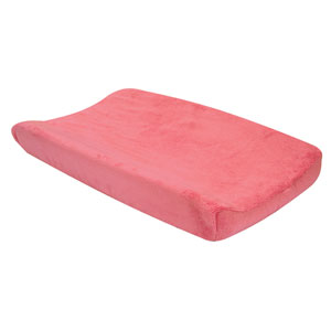 Coral Shell Plush Changing Pad Cover