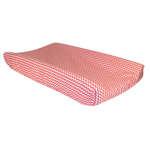 Coral Chevron Changing Pad Cover