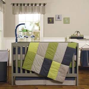 Perfectly Preppy Three-Piece Crib Bedding Set