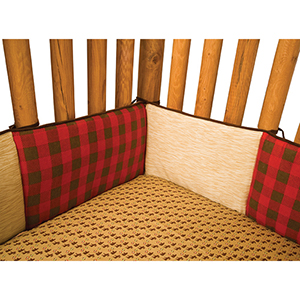 Northwoods Brown Crib Bumpers
