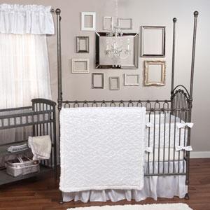 Marshmallow Three-Piece Crib Bedding Set