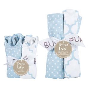 Blue Sky Eight-Piece Bib and Burp Cloth Set