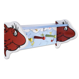 Dr. Seuss One Fish Two Fish Shelf with Pegs