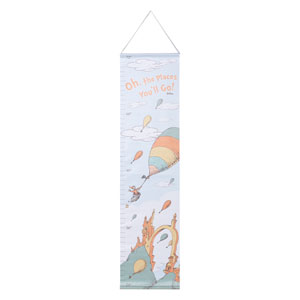 Dr. Seuss Oh, the Places Youll Go! Canvas Growth Chart