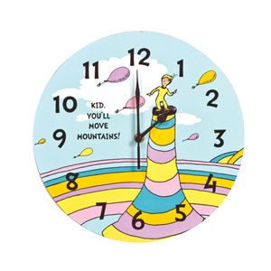 Dr. Seuss Kid Youll Move Mountains Wall Clock
