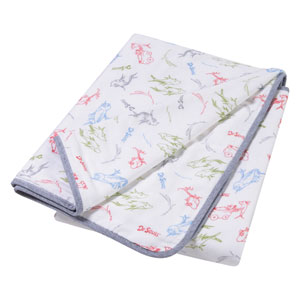 Dr. Seuss New Fish Luxe Muslin Blanket