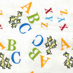 Dr. Seuss ABC Flannel Multi-Colored Crib Sheet