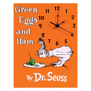 Dr. Seuss Green Eggs and Ham Wall Clock