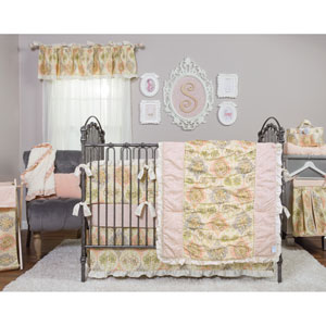 Waverly Rosewater Glam Three-Piece Crib Bedding Set