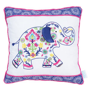 Waverly Santa Maria Henna Elephant Decorative Pillow