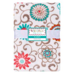 Waverly Pom Pom Play Plush Baby Blanket