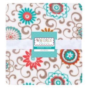 Waverly Pom Pom Play Plush Throw Blanket