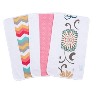 Waverly Pom Pom Play Jumbo Burp Cloth, Set of Three