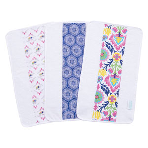 Waverly Santa Maria Jumbo Burp Cloth, Set of Three