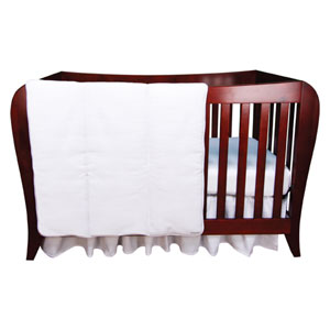White Pique Three Piece Crib Bedding Set