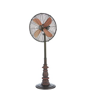 Kipling Brown Floor Fan with Adjustable Height