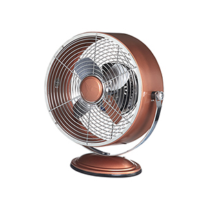 Copper Metallic 12-Inch Retro Swivel Fan