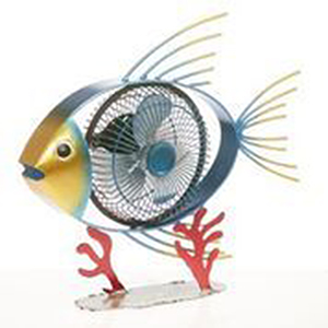 Tropical Fish Blue 13-Inch USB Fan