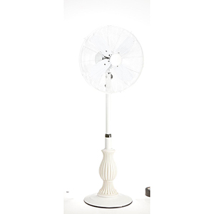 Charlotte Brown Floor Fan with Adjustable Height