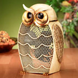 Beige Figurine Fan Snow Owl