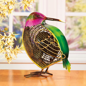 Green Figurine Fan Hummingbird (Small)