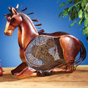 Brown Figurine Fan Horse