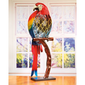 Multi Colored 32-Inch Figurine Fan Parrot Color
