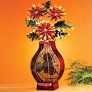 Multi Colored Figurine Fan Flower Bouquet