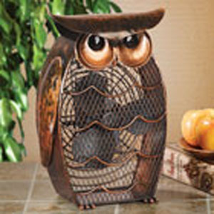 Multi Colored Figurine Fan Owl