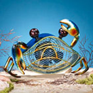 Multi Colored Figurine Fan Blue Crab
