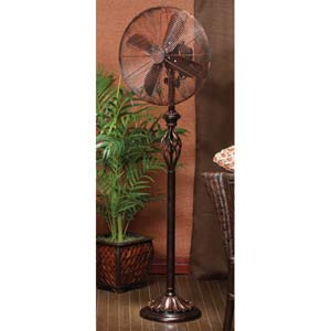 Prestige-Rustica Brown 16-Inch Floor Standing Fan