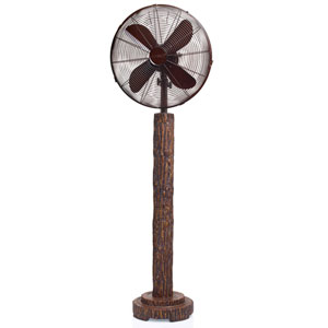 Multi Colored 16 Inch Floor Fan Fir Bark