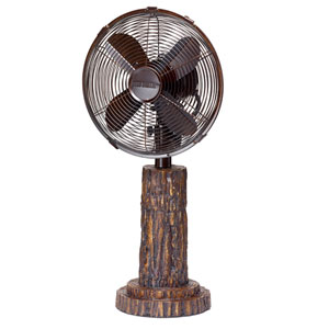 Multi Colored 10 Inch Table Fan Fir Bark