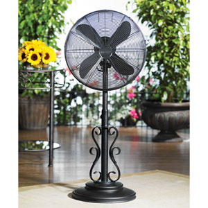 Black 18 Inch Outdoor Fan Ebony