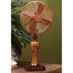 Light Brown 10 Inch Table Fan Sambuca