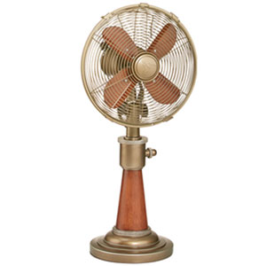 Savery Copper 10-Inch Table Fan