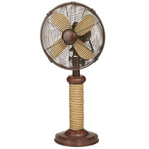 Darby Mahogany 10-Inch Table Fan