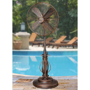 Rustic Brown 18 Inch Outdoor Fan Prestigious