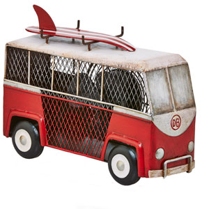 Red Surf Van Figurine Fan