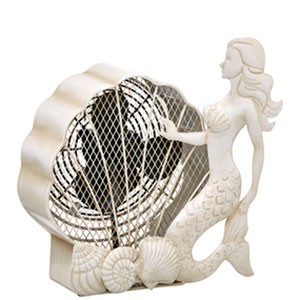 White Mermaid Figurine Fan