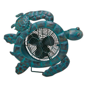 Blue Sea Turtle Figurine Fan